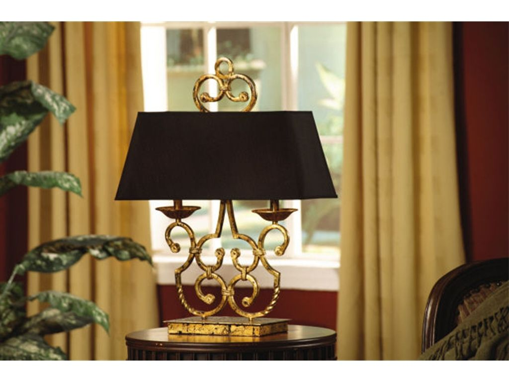 Crestview Lamps And Lighting Twin Light Table Lamp CVACR164   Clauser  Furniture   Berne, IN