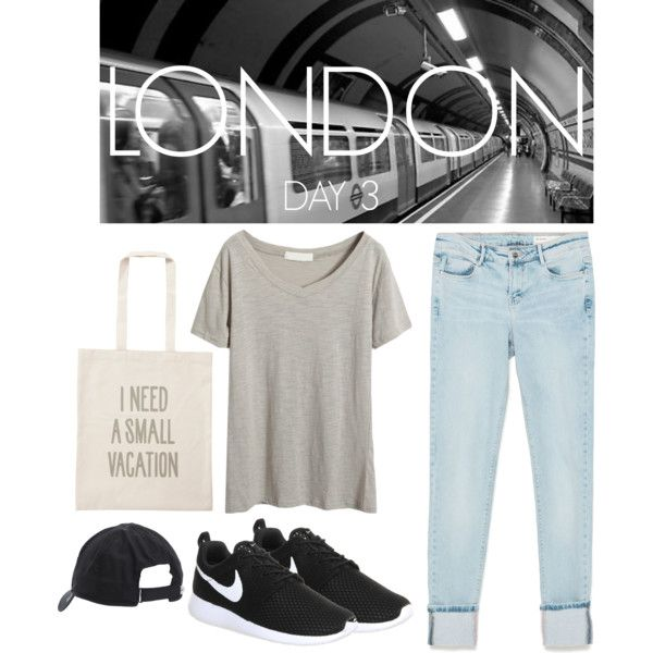 LONDON by silvia-reginato on Polyvore featuring polyvore, moda, style, Zara, NIKE and ALPHABET BAGS