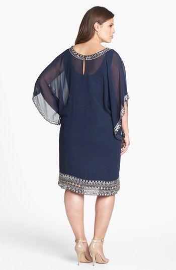 J Kara Embellished Chiffon Dress (Plus Size) | Nordstrom | Fiestas ...