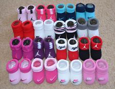 watch 53cd7 2443a NEW - NIKE Jordan 2 Pair Booties Infant Baby Newborn 0-6 Months Boys Girls  Socks