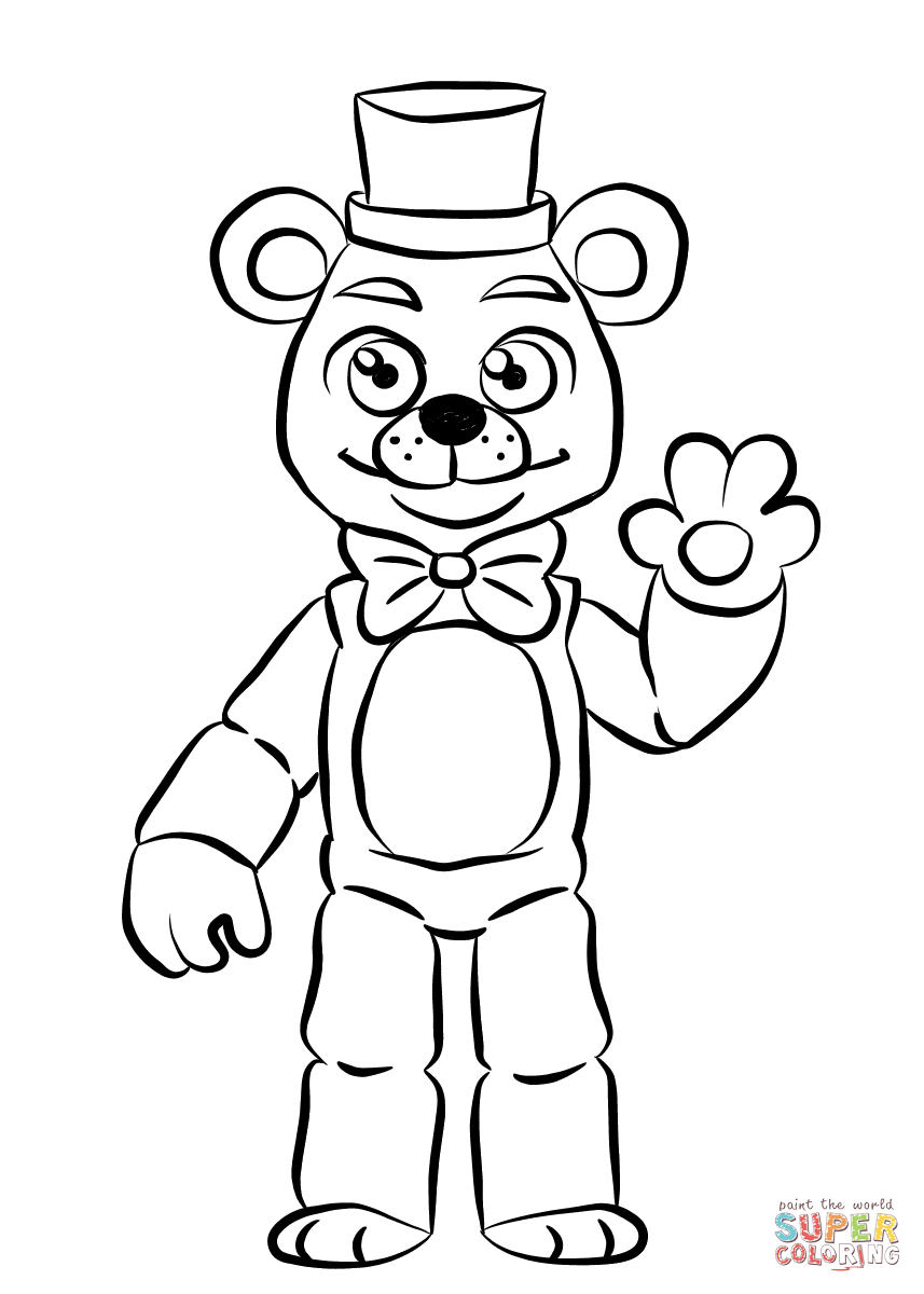 Fnaf golden freddy super coloring