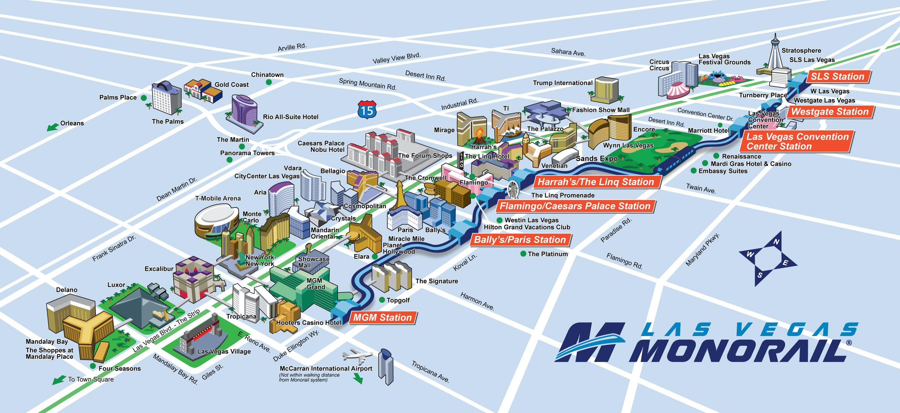 Monorail Las Vegas Map Route Map   Las Vegas Monorail | Las Vegas | Pinterest | Vegas  Monorail Las Vegas Map