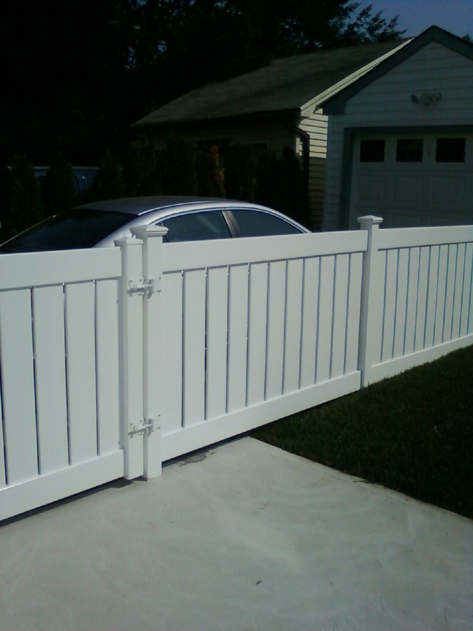 4' Constellation PVC Semi-privacy Fence And Gate