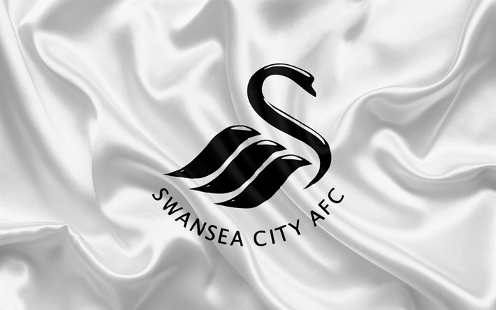 Download Wallpapers Swansea City Football Club Premier League Football Swansea United Kingdom Wales Flag Emblem Swansea Logo Welsh Football Club Besth Bandeiras Futebol