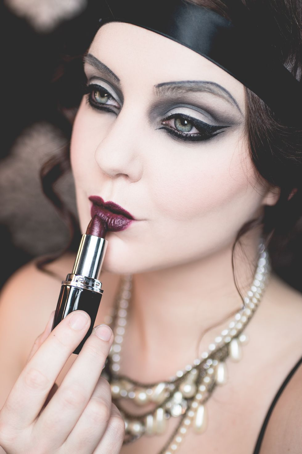 Isadora Halloween The Great Gatsby 20 Makeup In 2020 20s Makeup Gatsby Makeup Vintage Makeup 1920s