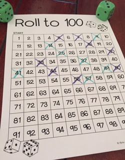 Roll to 100    KindergartenKlub com   Pinterest   100 free  Math and     FREE  no prep game up on the blog  with three different ways to play this  game