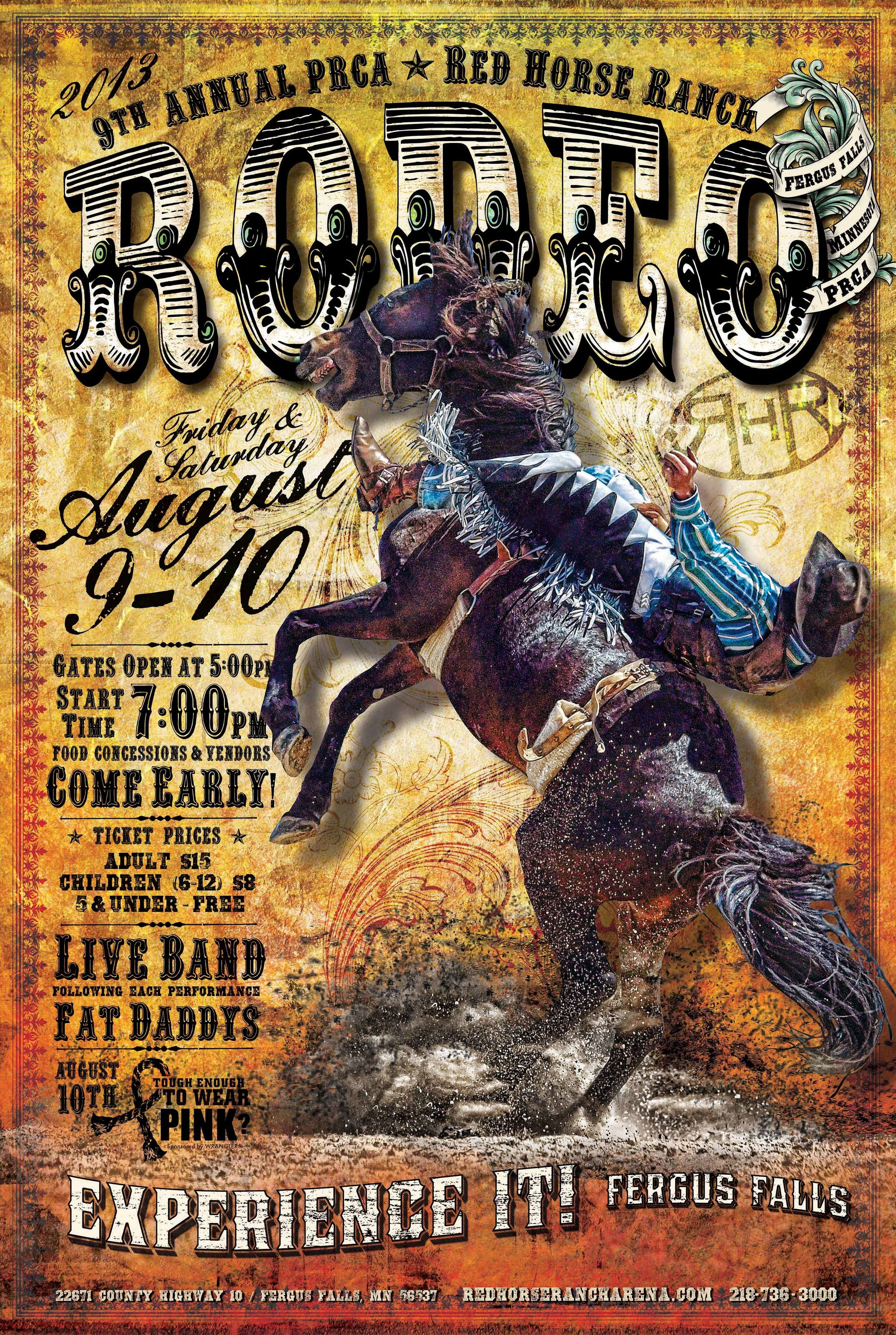 2013 red horse ranch rodeo poster 18