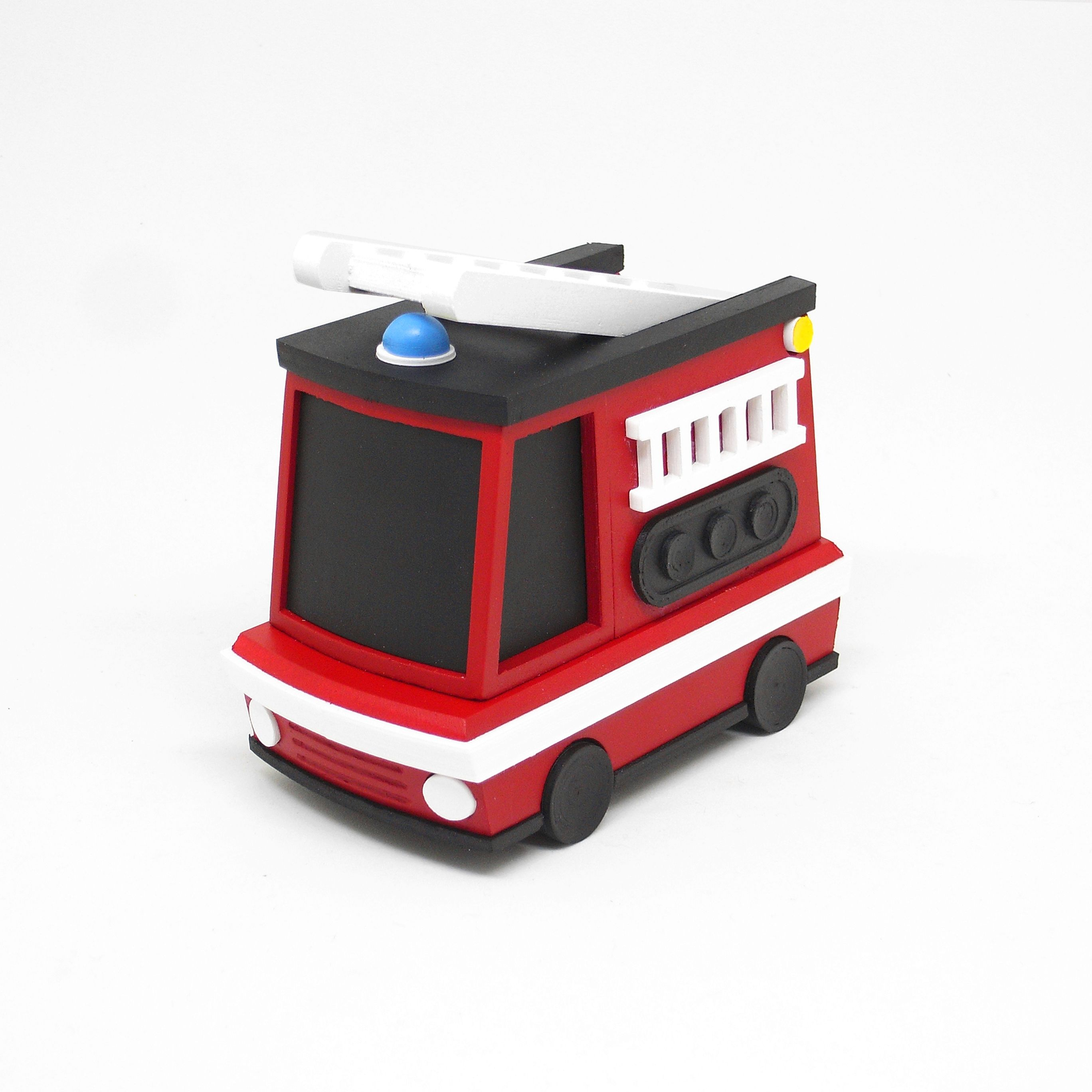 Fire Engine (3D printing) #designinhongkong #makeitworkstudio #sketch #fireengine #toy #onlyforkids #3dprinting