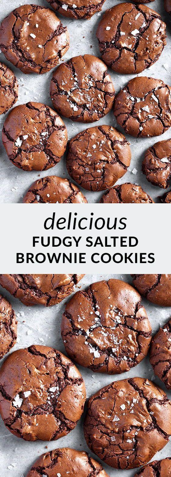 Salted Brownie Cookies