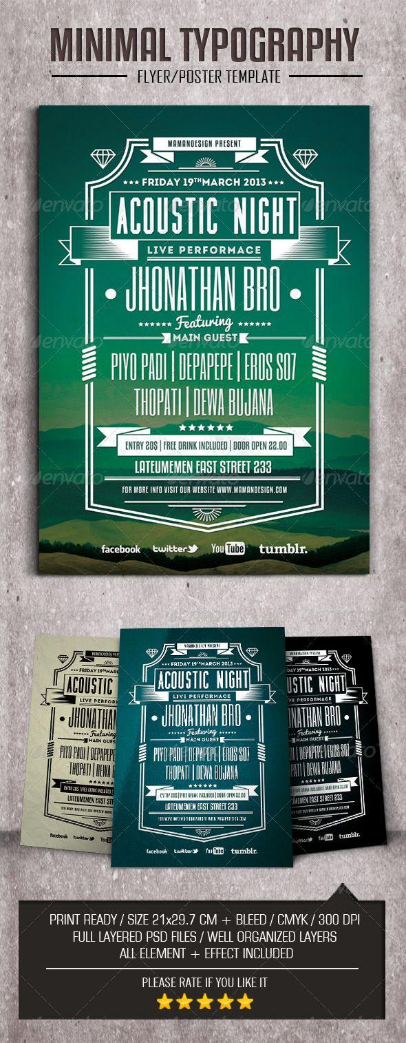 Minimal Typography FlyerPoster – Typography Flyer