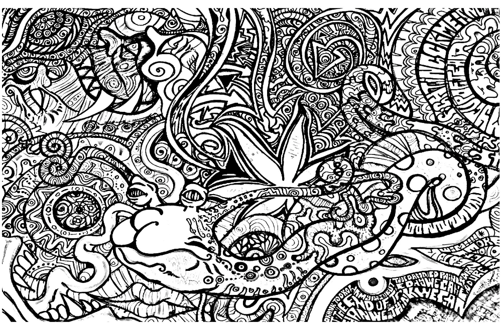Trippy Coloring Sheets