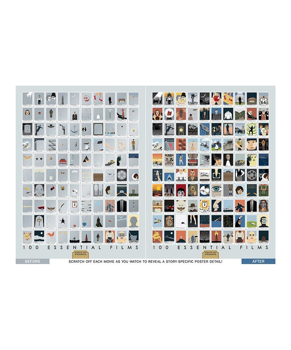 Take A Look At This 100 Essential Films Scratch Off Chart Print Today