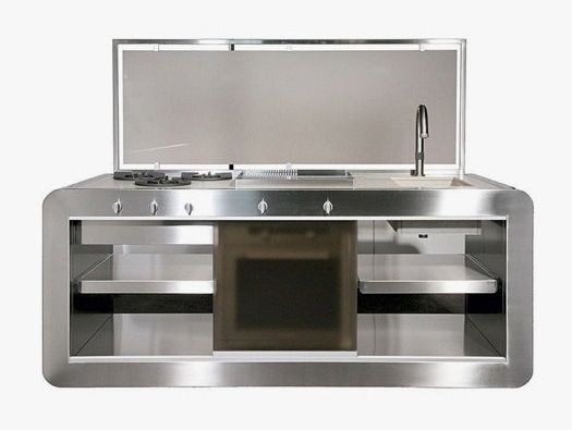 compact stainless steel kitchens - Google Search REMODEL IDEAS