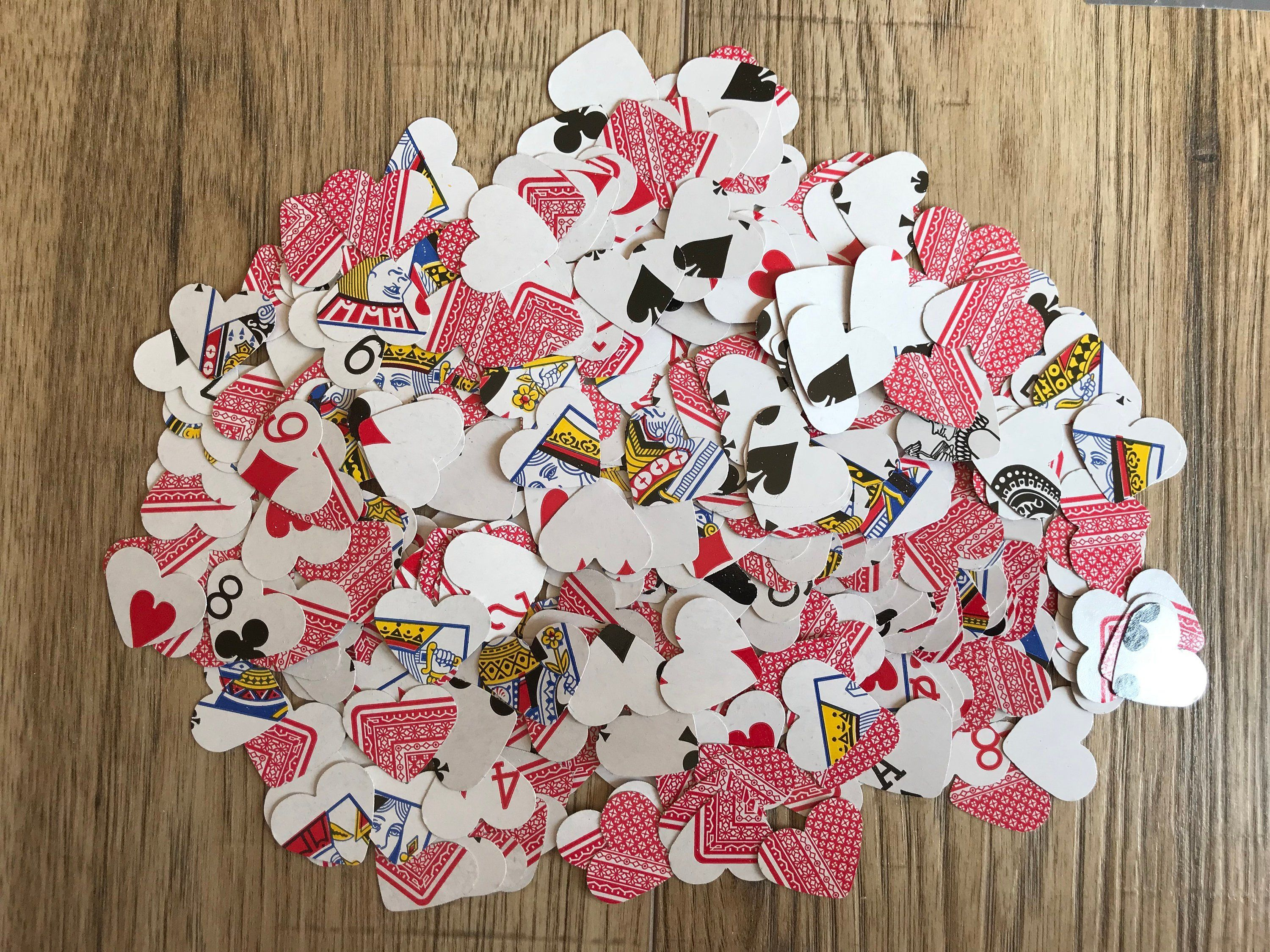 Playing Card Table Confetti  Casino  Poker Night  Mad Hatters Tea Party  Alice In Wonderland Wedding