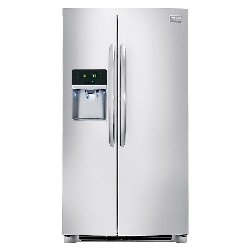 Frigidaire Gallery Fghs2355pf 22 6 Cu Ft Side By Side Refrigerator Stainless Steel Frigidaire Gallery Side By Side Refrigerator Frigidaire Refrigerator