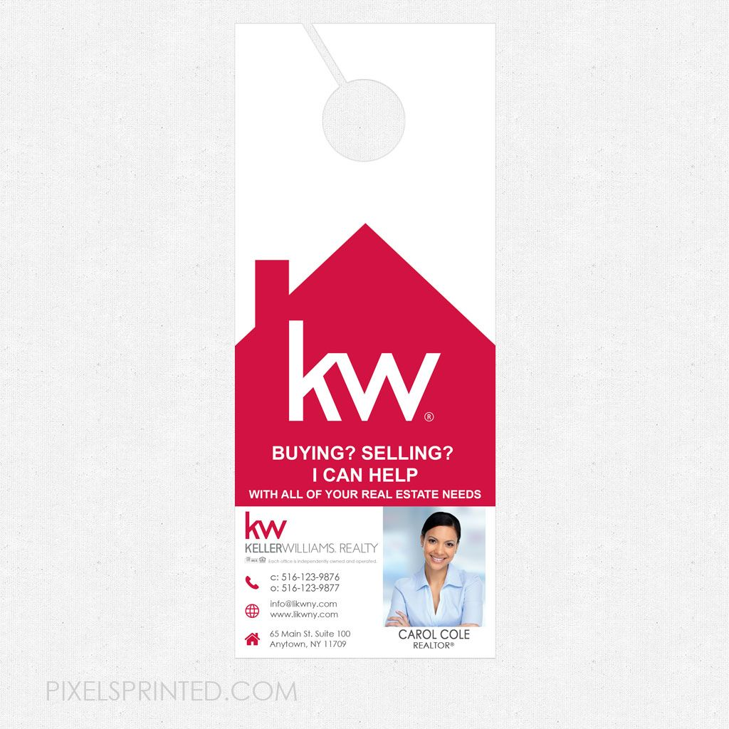 Keller Williams Door Hangers door hangers, realtor door hangers, real estate door hangers