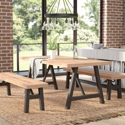Laurel Foundry Modern Farmhouse Guillaume 3 Piece Dining Set 3