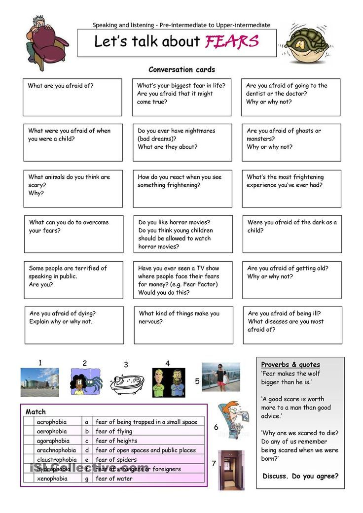 Printable Worksheets should worksheets : Lets Talk about Fears. | Let's Talk | Pinterest | Worksheets ...