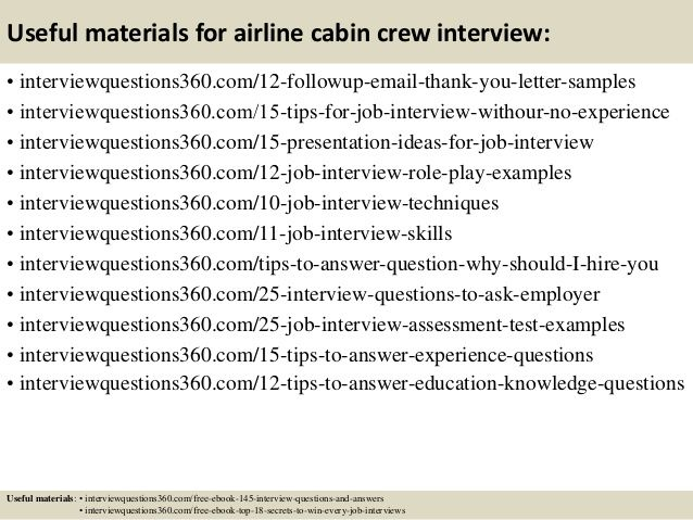 Useful materials for airline cabin crew interview - follow up letter
