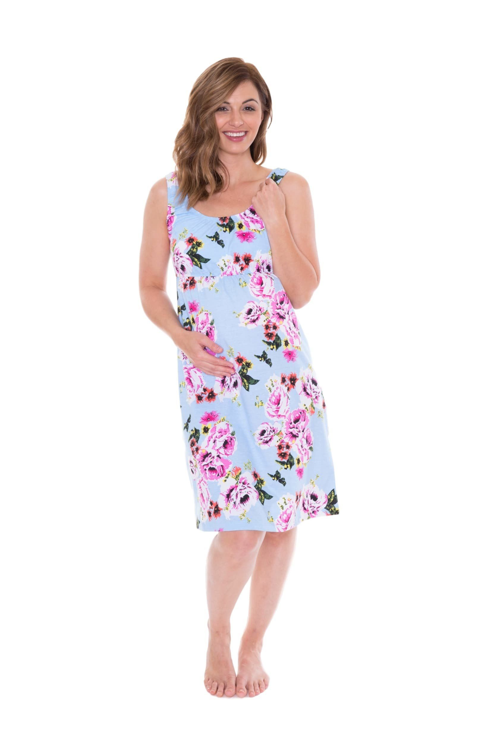 4947ac75b2 This pretty maternity nursing nightdress is designed to make you feel  gorgeous yet comfortable   stylish as your bump grows. Chic