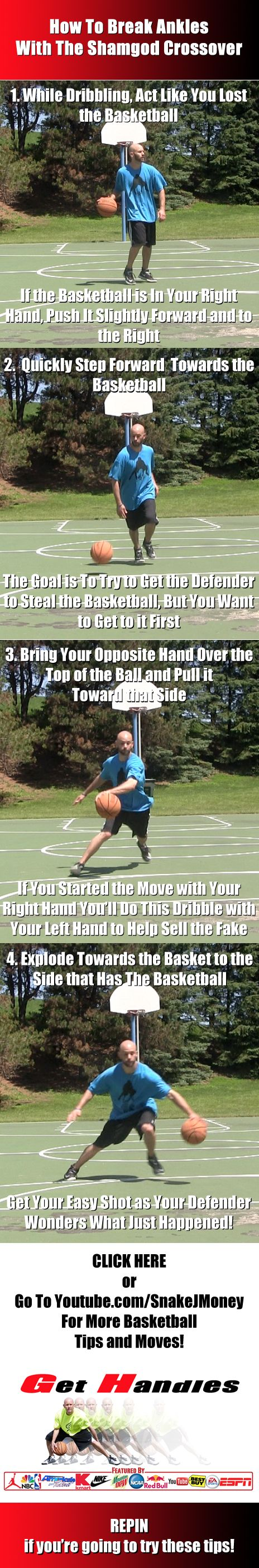 Basketball Moves: How To Break Ankles With The Shamgod Crossover! More  Moves, Tips
