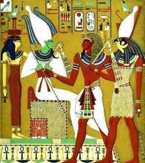 Egyptian gods - Isis, Osiris, Atum and Horus   props   Ancient egypt
