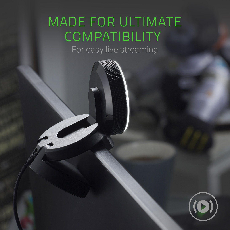 Razer Kiyo Full Hd 1080p 30fps 720p 60fps Built In Adjustable Ring Light Advanced Autofocus Feature Streaming Web Camera Fp Razer Streaming Autofocus