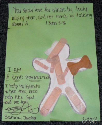 Craft Idea For Good Samaritan Sunday School Activities Sunday