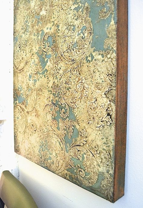 Create A Fabulous Chippy Stenciled Finish On Canvas! | Artisan ...