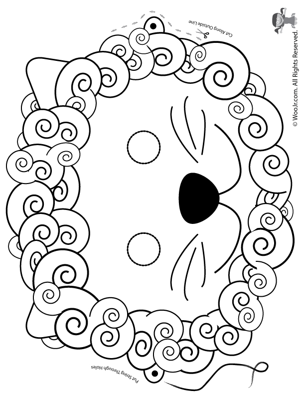 It's just a graphic of Printable Lion Masks with lion head