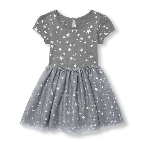 The Childrens Place Baby Girls Short Sleeve Tutu Dress