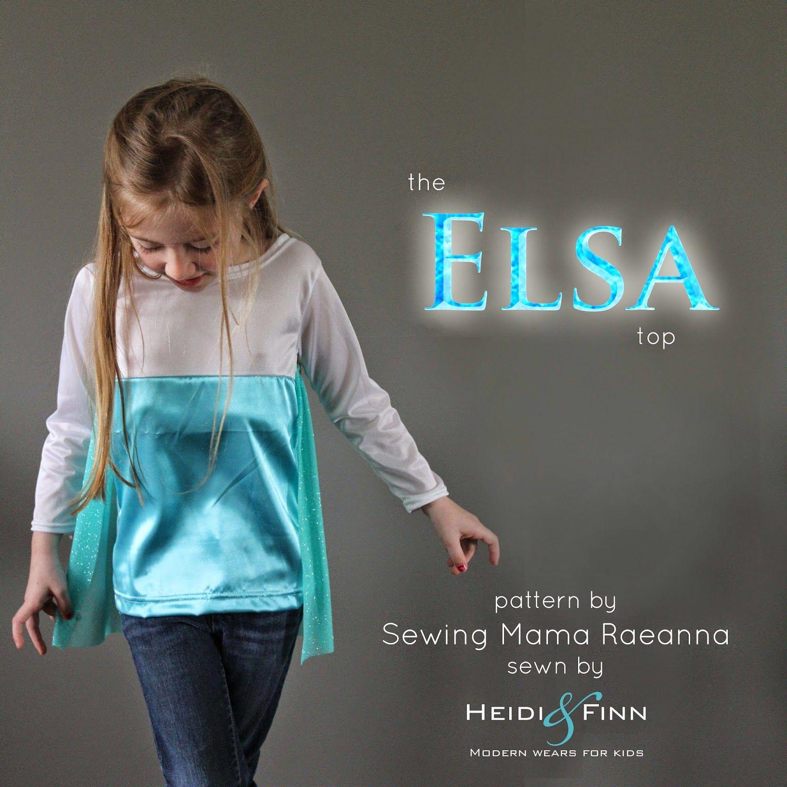 03aae3c9cc8b HeidiandFinn modern wears for kids  Elsa top - cupcake top pattern ...