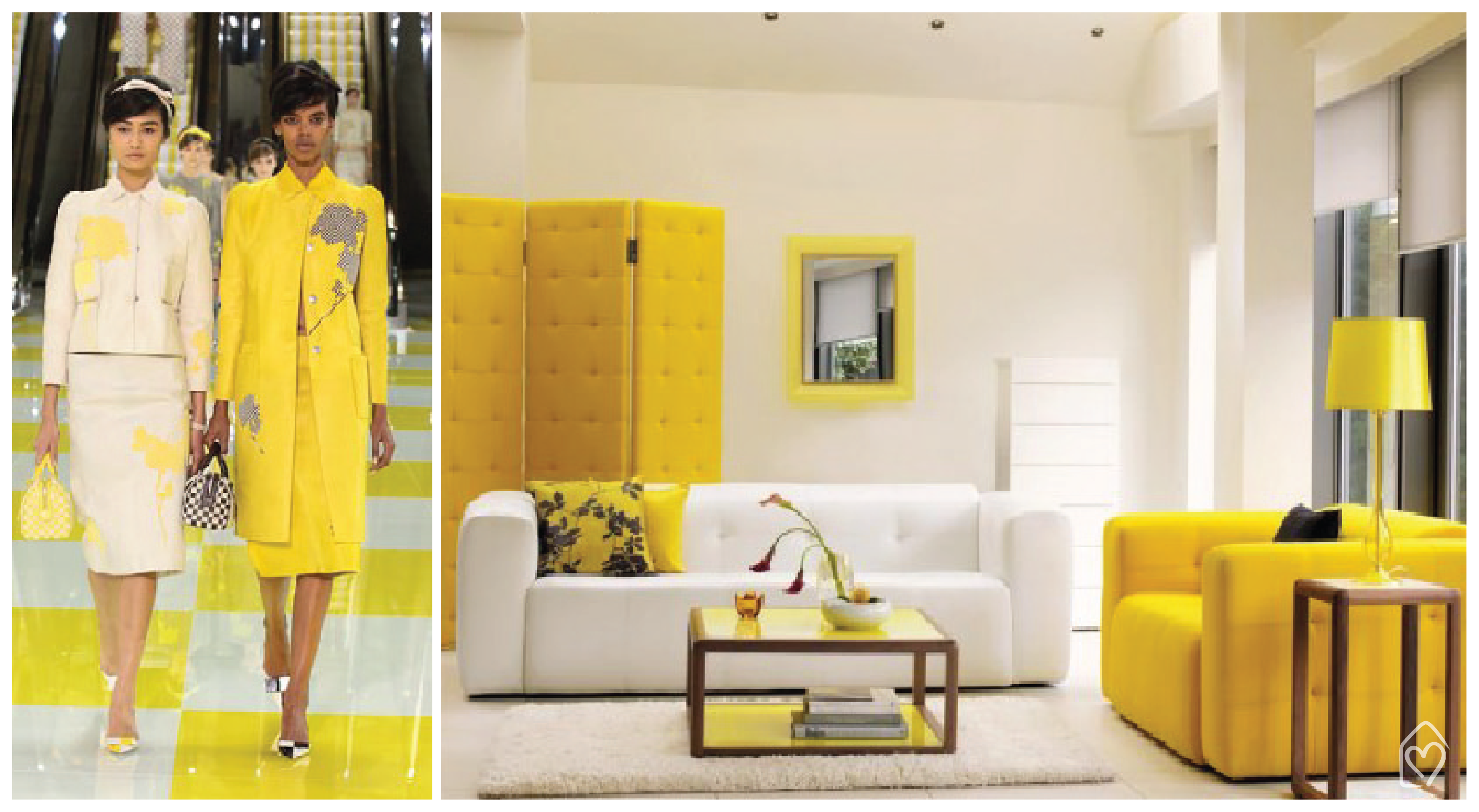 Yellow fever: fashion x decor