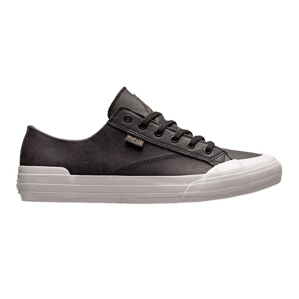 Huf Classic Lo shoes black elephant textured leather