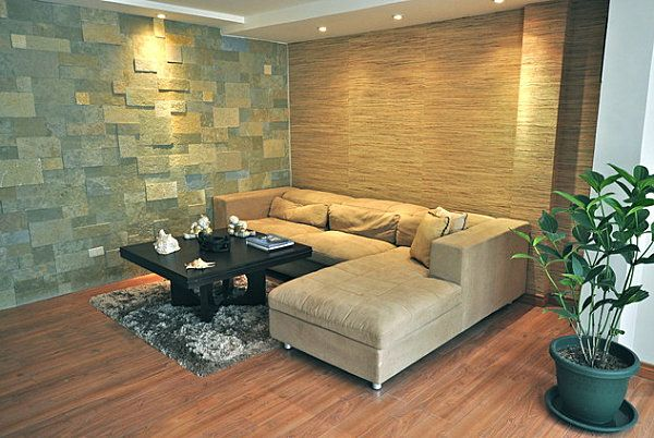 Superieur Textured Walls In A Contemporary Living Room