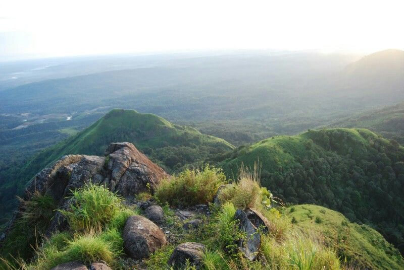 Pemandangan Di Atas Bukit Jempol Atau Bukit Serelo Desa Perangai Kecamatan Merapi Selatan Kabupaten Lahat Sumatera Selatan Pemandangan Pantai Cenang Sungai