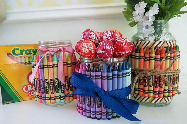 clic de ideias: {vidros   crayons = reciclagem fofa demais!} vem r...