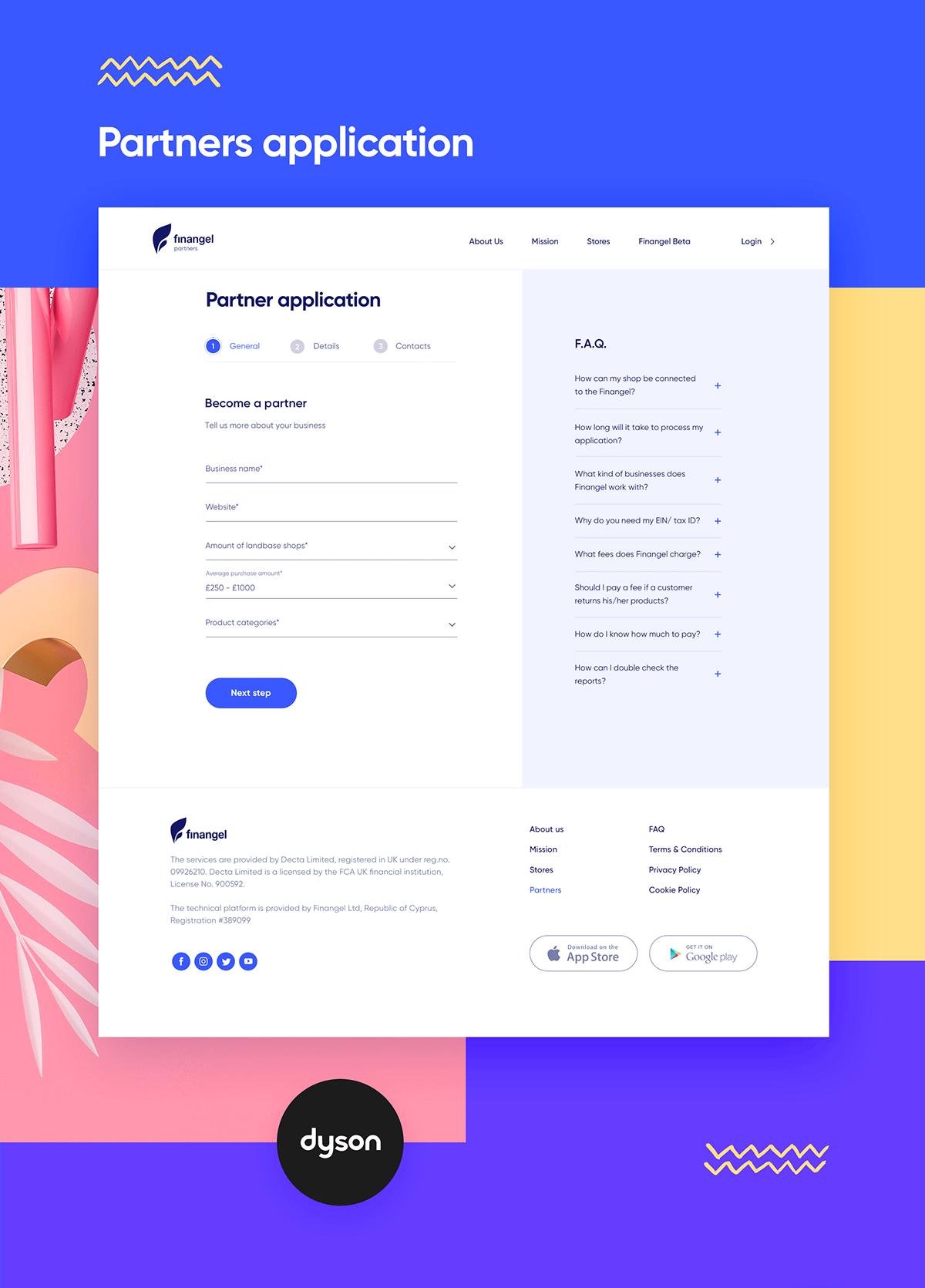 Finangel Partners On Behance Web App Design Web Design User Interface Web Design
