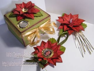 Valita's Designs & Fresh Folds: Introducing my Poinsettia Christmas set.