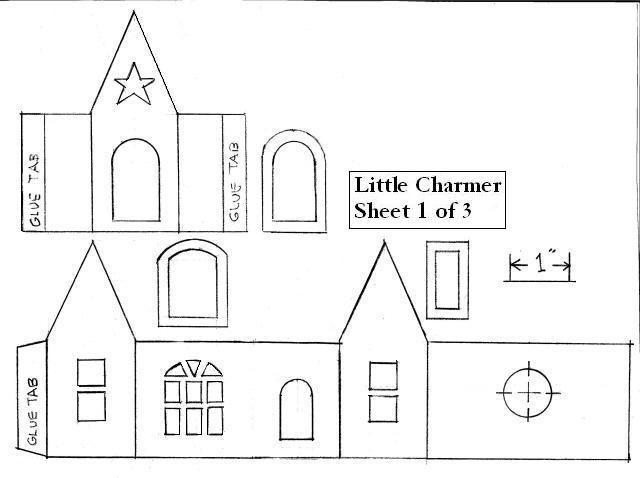 Maison maisons en papier pinterest no l maisons et deco noel - Patron de maison en papier a imprimer ...