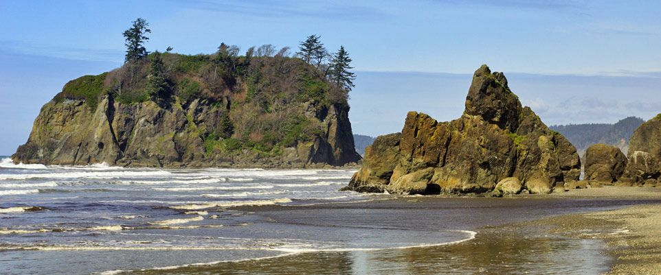 Charmant Ruby Beach Is The Northernmost Beach In The Area, And Located Roughly 6  Miles North