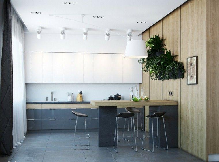Estudios y lofts con mucha clase y estilo | Barra bar, Cocina ...