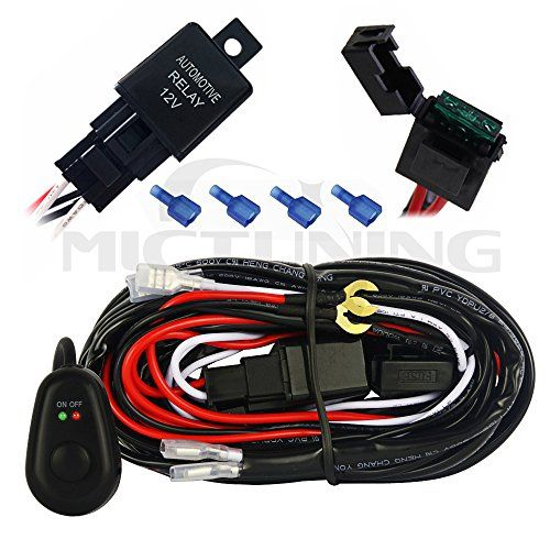 Mictuning LED Light Bar Wiring Harness Off Road Power Relay 30 Amp ...