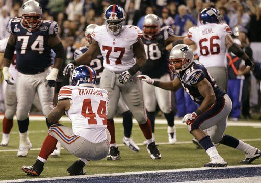 Get in there! Bradshaws TD in Super Bowl 2012, Giants vs Patriots