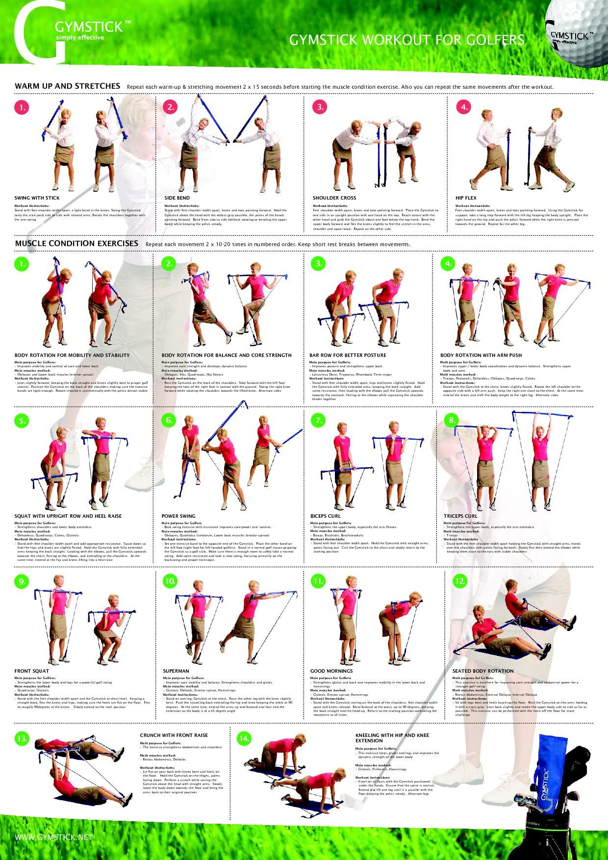 The Golf Exercises For Beginners That Work Best