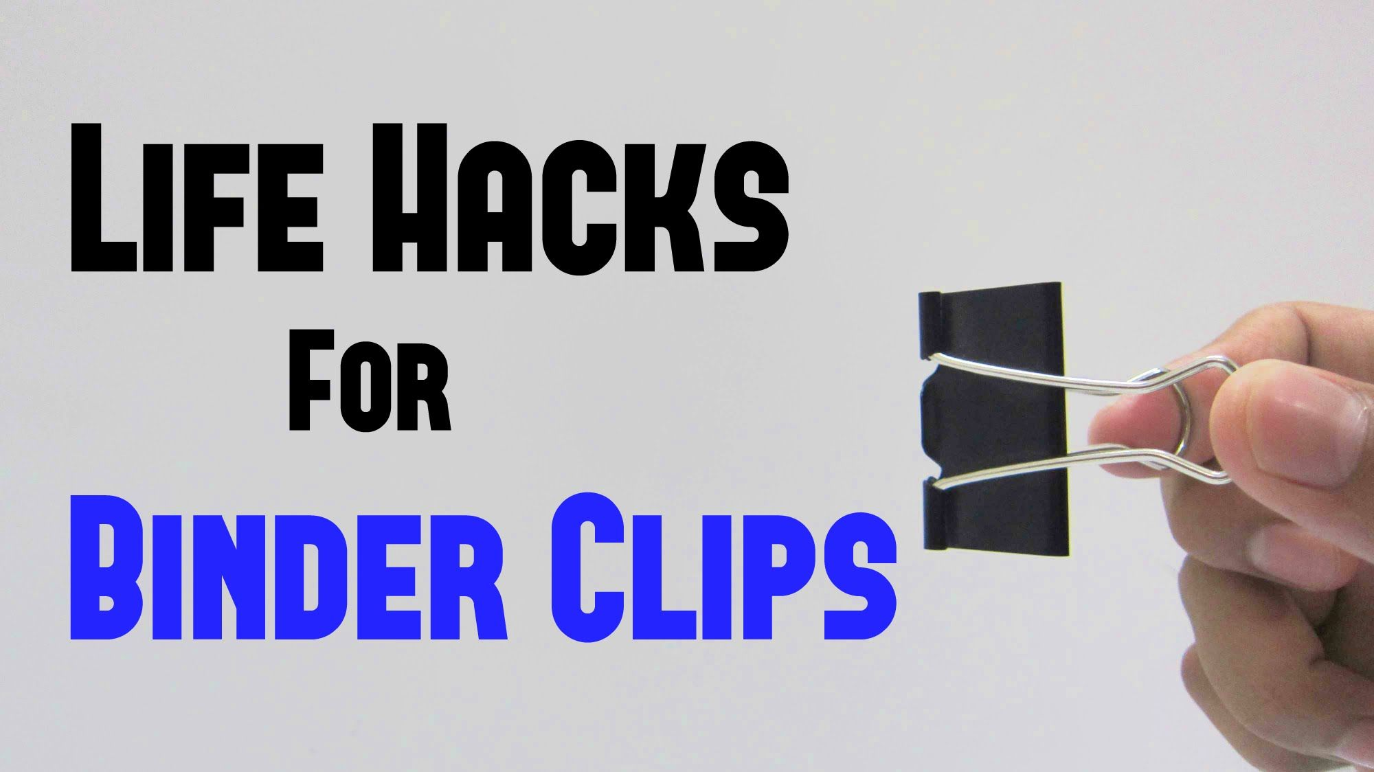 In this video we will take a quick look at some of the most common 11 binder clips life hacks you can do it yourself diy solutioingenieria Gallery