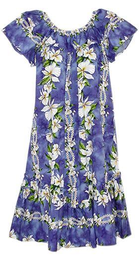 4fe17158a00 Long Orchid Hawaiian Muumuu | Hawaiian Muumuu Dress | Hawaiian ...