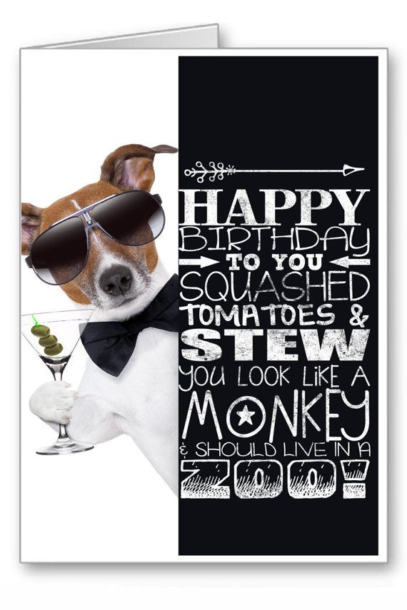 Greetings Cards Happy Birthday Cards Dogs Funny Dogs Jack Russell Terrier Funny Dog With Mart Dog Birthday Card Jack Russell Terrier Funny Happy Birthday Cards