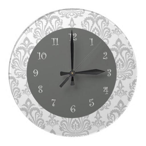 Damask Wall Clocks Damask Wall Wall Clock Wall Clock Design