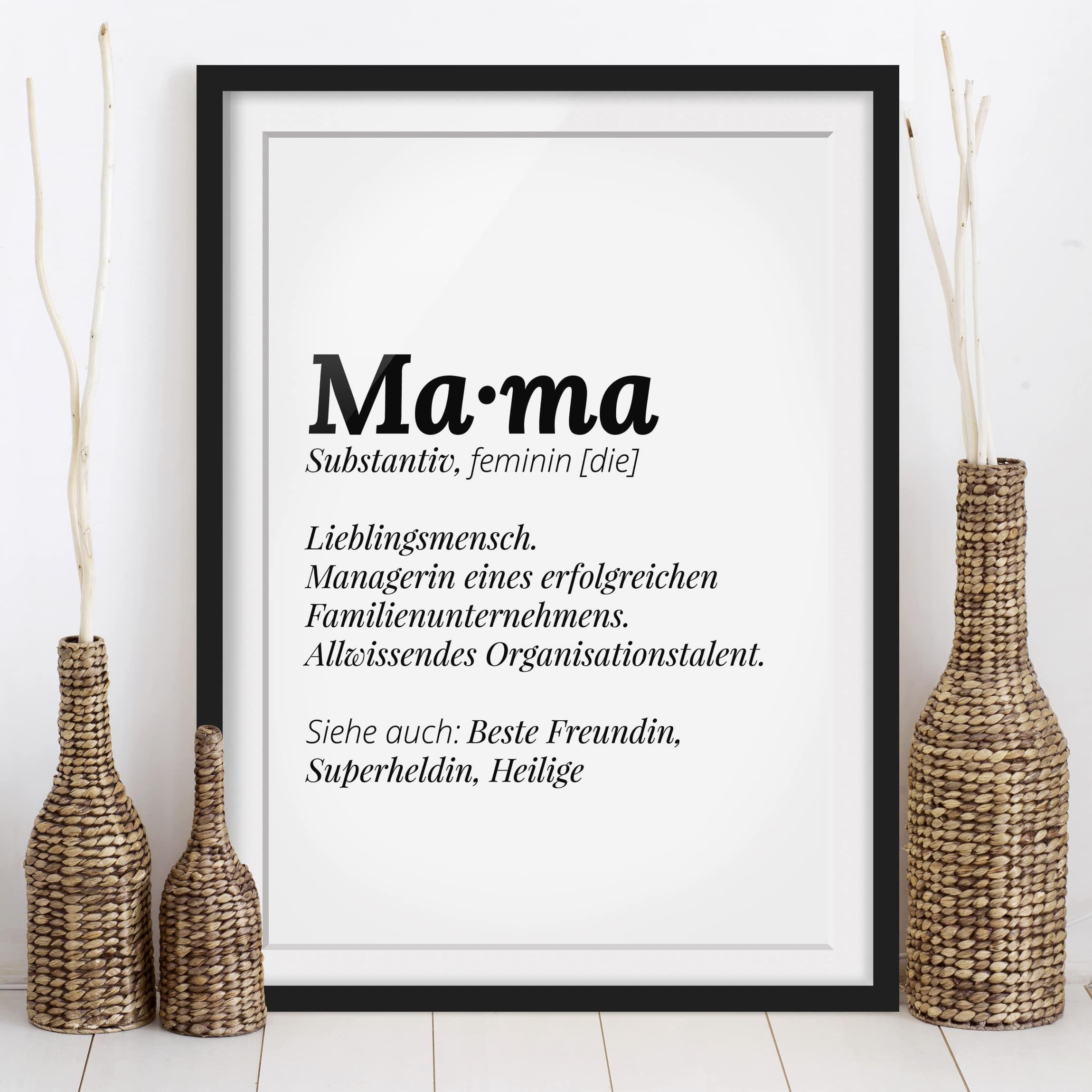 Du Mochtest Deiner Mama Ein Tolles Geschenk Machen Danke Sagen Und Ihr Zeigen Dass Sie Fur Dich Die Beste Mama De Papierbuchstaben Beste Mama Gerahmte Poster